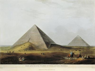Arab Dwelling Built on Ancient Ruins Along the Menuf Canal in Egypt from Views in Egypt, 1804