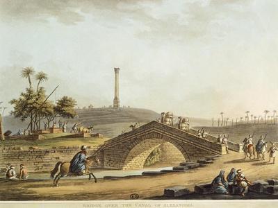 Egypt, Bridge over Alexandria Canal, 1804