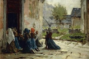 Morning Prayer, 1883 by Luigi Rossi