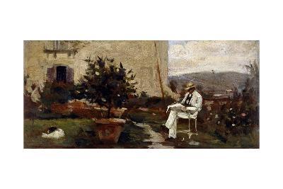 Luigi Tommasi in Garden, 1884-Silvestro Lega-Giclee Print