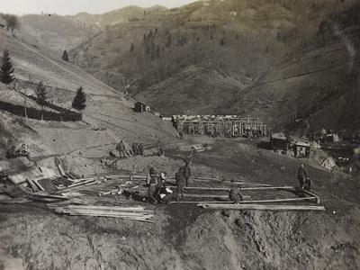Construction of Military Barracks in the Valley Doblar During the First World War