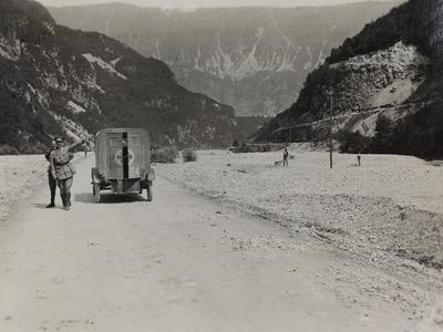 Military Ambulance on the Riverbed of the River Natisone in Cividale During the First World War