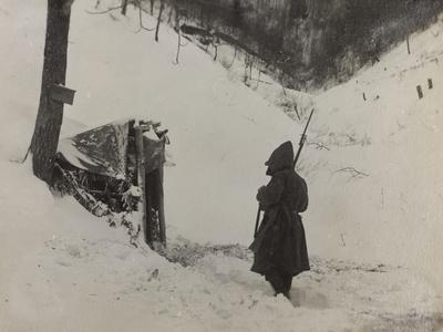 Vedette in the Valley Doblar During the First World War
