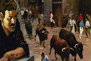 Hemingway Became Fascinated by the Spanish Obsession with Bulls and Bullfighting by Luis Arcas Brauner