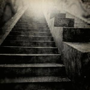 A Stairs in a Temple of Bankok by Luis Beltran
