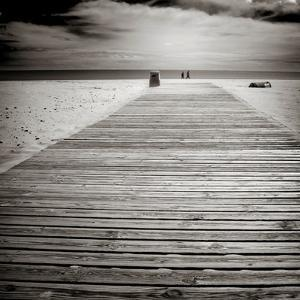 Beach View with Timber Jetty by Luis Beltran