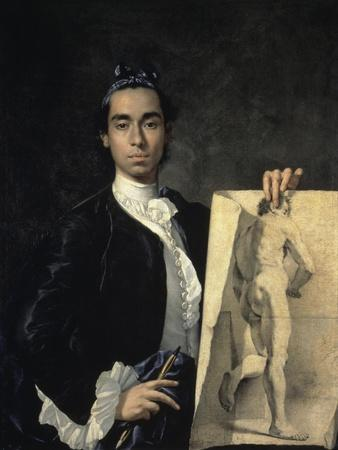 Portrait of the Artist Holding a Life Study, 18th century