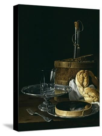 Still Life with Box of Jellied Fruit, Bread, Silver Salver, Glass, and Wine Cooler, 1770