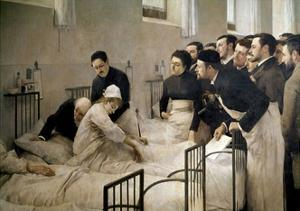 The Visit of the Doctor, 1897 by Luis Jimenez Aranda