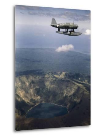 Seaplane Soars over the Crater Lake of Coseguina Volcano
