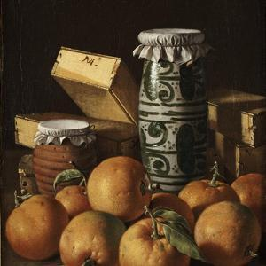 Still Life with Oranges, Jars, and Boxes of Sweets by Luis Meléndez