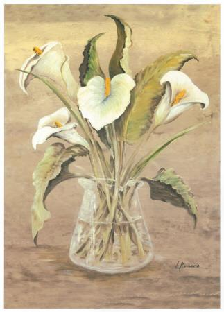 White Lilies In Crystal