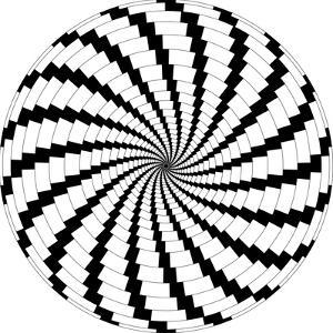 Op Art Rotating Windmills Black and White by Luis Stortini Sabor aka CVADRAT
