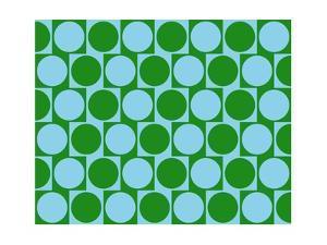 Optical Illusion Cafe Wall Effect Circles Light Blue Green by Luis Stortini Sabor aka CVADRAT
