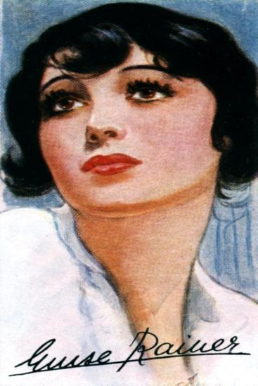 Luise Rainer, (1910), Two Time Academy Award Winning Film Actress, 20th Century--Giclee Print