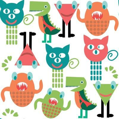 Adorable Abstract Monster Pattern