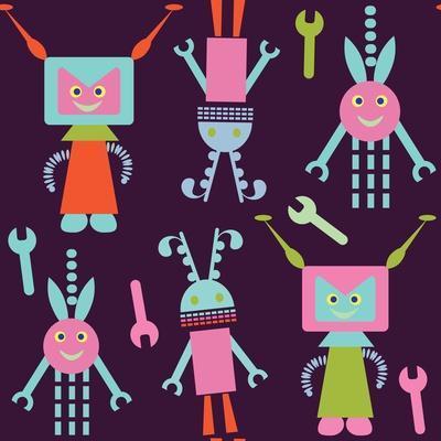 Cute Robot Pattern