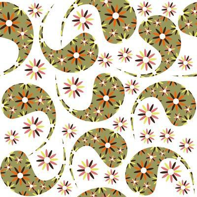 Paisley Pattern on White