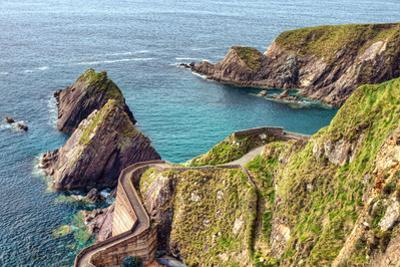 Dunquin Pier on the Dingle Peninsula in Ireland. by Lukasz Pajor