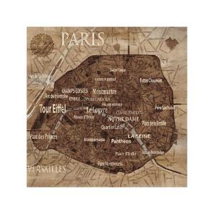 Map of Paris by Luke Wilson