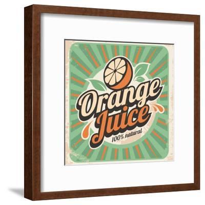 Orange Juice Retro Poster