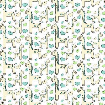 Lullaby Giraffe-Joanne Paynter Design-Giclee Print