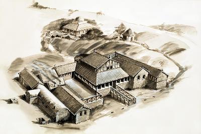 Lullingstone Villa, a Roman Villa--Giclee Print