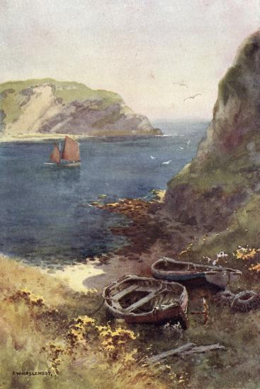 Lulworth Cove-Ernest W Haslehust-Photographic Print