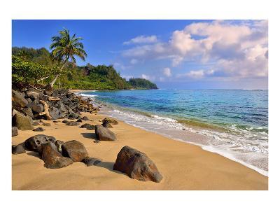Lumahai Beach near Hanalei, Island of Kauai, Hawaii, USA--Art Print