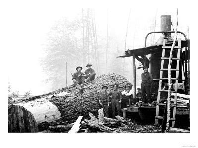 Lumber Break-Clark Kinsey-Art Print