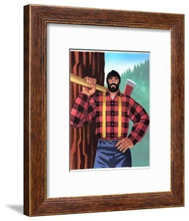 Lumberjack with Axe--Framed Art Print