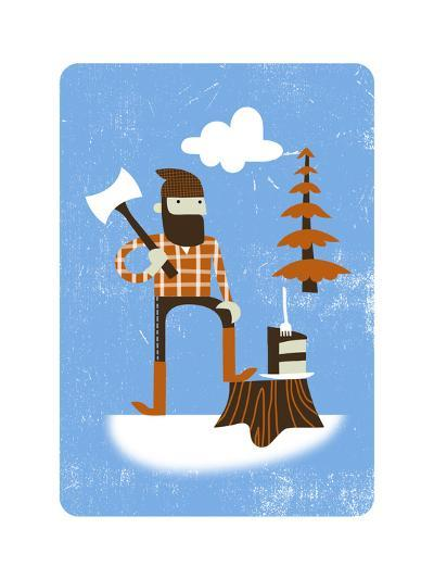 Lumberjack with Axe--Art Print