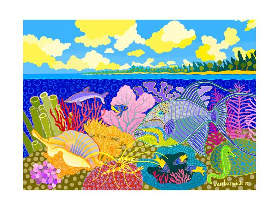 Luminescence Tropicale-Jan Barwick-Giclee Print