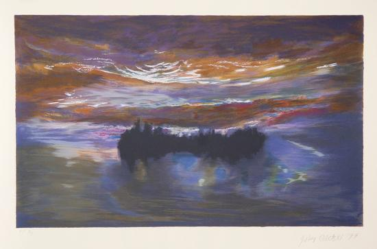Luminous Dawn-Jules Olitski-Serigraph