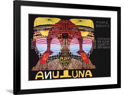 Luna Luna-Friedensreich Hundertwasser-Framed Serigraph