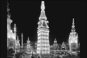Luna Park at Night in Coney Island