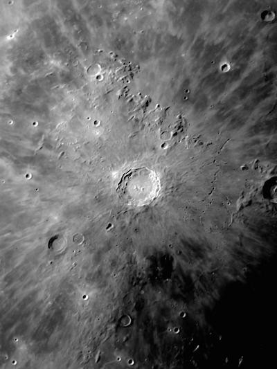 Lunar Crater Copernicus Surrounded by Impact Residue-Stocktrek Images-Photographic Print