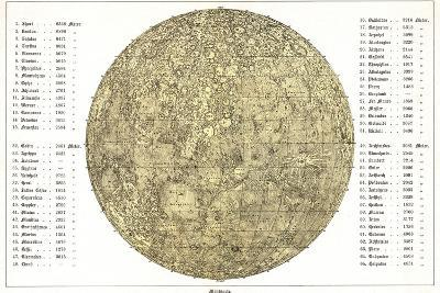 Lunar Map, 1822-Detlev Van Ravenswaay-Photographic Print
