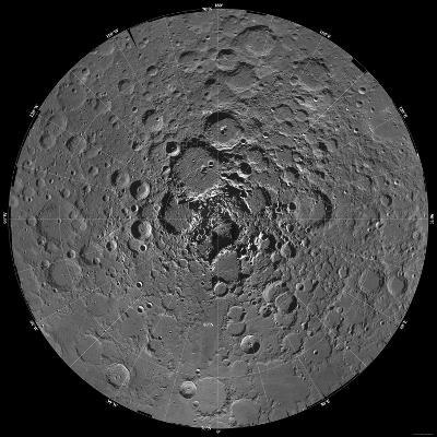 Lunar Mosaic of the North Polar Region of the Moon-Stocktrek Images-Photographic Print