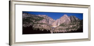Lunar Rainbow over the Upper and Lower Yosemite Falls, Yosemite National Park, California, USA