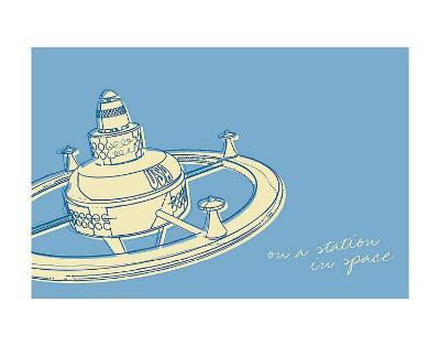 Lunastrella Space Station-John Golden-Art Print