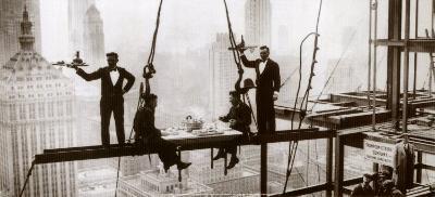 Lunch above Manhattan--Art Print