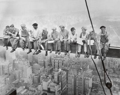 Lunch Atop a Skyscraper, c.1932-Charles C^ Ebbets-Art Print