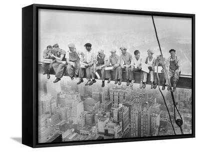 Lunch Atop a Skyscraper, c.1932-Charles C^ Ebbets-Framed Canvas Print