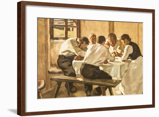 Lunch, C.1910-Albin Egger-lienz-Framed Giclee Print