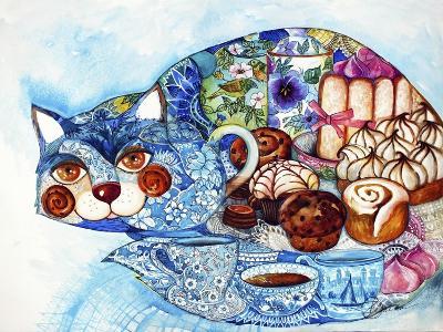 Lunch Cat-Oxana Zaika-Giclee Print