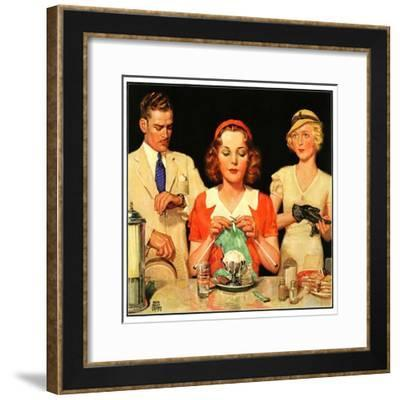 """Lunch Counter Wait,""August 1, 1934-Ralph P. Coleman-Framed Giclee Print"