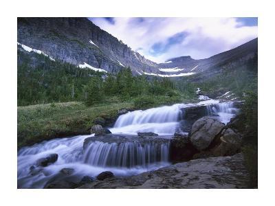 Lunch Creek Cascades, Glacier National Park, Montana-Tim Fitzharris-Art Print