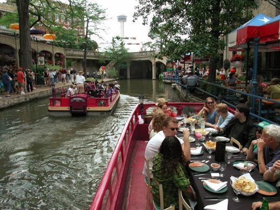 Lunch Cruise Along River Walk, San Antonio, TX-Pat Canova-Photographic Print
