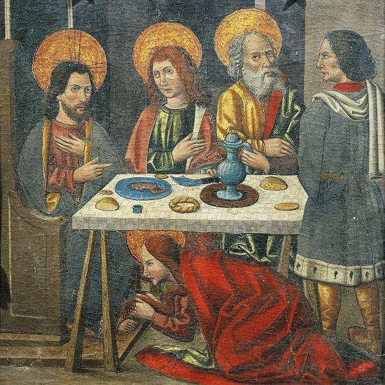 Lunch in the House of Simon the Pharisee with Mary Magdalene Drying Jesus' Feet with Her Hair--Giclee Print